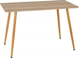 Seconique Barley Wood Dining Table Oak Veneer - Seats up to 4 People