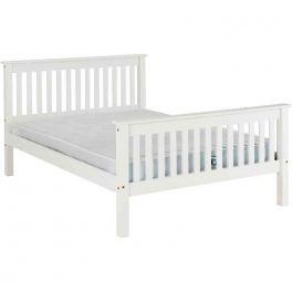 Seconique Monaco 4ft6 Double Bed - White