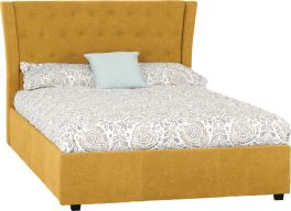 Seconique Camden Plus Storage 135 x 190 UK 4ft6 Double Mustard Fabric Bed Frame