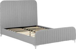 Seconique Hampton 135 x 190 UK 4ft6 Double Light Grey Fabric Bed Frame