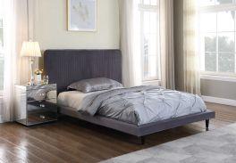 Seconique Shannon  150 x 200 UK 5ft Kingsize Grey Fabric Bed Frame