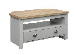 Birlea Highgate Corner TV Unit - Grey & Oak - Farmhouse Style