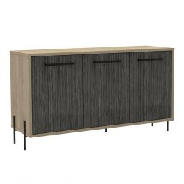 Core Harvard Oak & Carbon Grey 3 Door Sideboard