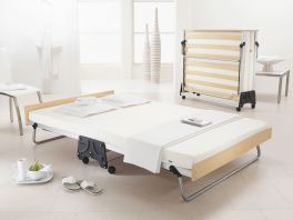 JAY-BE J-Bed Compact Folding Metal Guest Bed - 4ft Small Double + Memory Foam Mattress
