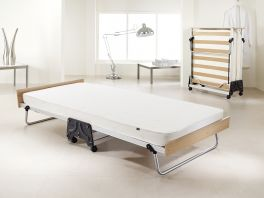 JAY-BE J-Bed Compact Folding Metal Guest Bed - 3ft Single + Airflow Mattress