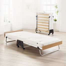 JAY-BE J-Bed Compact Folding Metal Guest Bed - 3ft Single + Pocket Sprung Mattress