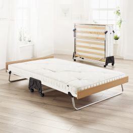 JAY-BE J-Bed Compact Folding Metal Guest Bed - 4ft Small Double + Pocket Sprung Mattress