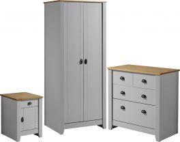 Seconique Ludlow Pine Grey 3 Piece Bedroom Set
