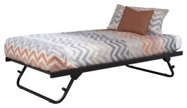 Memphis Metal Day Bed Pull out Trundle - Black