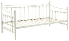 Memphis Metal Guest Day Bed - Ivory