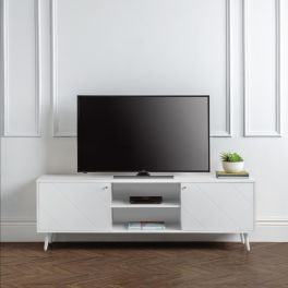Julian Bowen Moritz Scandi Style TV Cabinet with Sheves - White