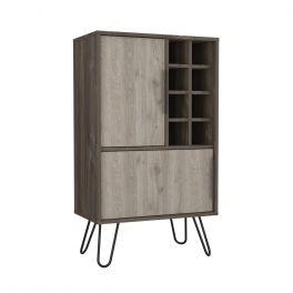 Core Nevada Smoked Oak 2 Door Drinks Bar Cabinet