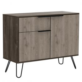 Core Nevada Smoked Oak 2 Doors 1 Drawer Sideboard
