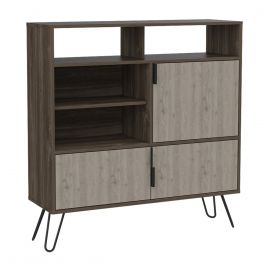 Core Nevada Smoked Oak 3 Door High Sideboard