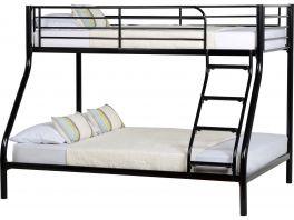 Seconique Tandi Triple Metal Sleeper Bunk Bed - Black