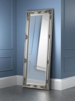 Julian Bowen Palais Antique Finish Pewter Lean-To Dress Mirror