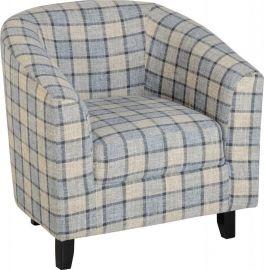 Seconique Hammond Deep Cushioned Tub Chair - Grey Check