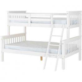 Seconique Neptune Triple Sleeper Bunk Bed - White