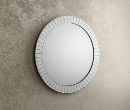 Julian Bowen Sonata Bevelled Glass Front Large Round Wall Mirror