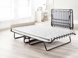 JAY-BE Supreme Automatic Folding Guest Bed & Mattresses - 4ft Small Double + Airflow Mattress