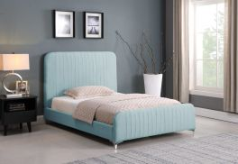 Seconique Hampton 135 x 190 UK 4ft6 Double Teal Fabric Bed Frame