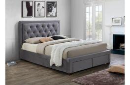 Birlea Woodbury Fabric Four Drawer Storage Bed - 4ft6, 5ft, 6ft - Grey