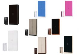 Alpha High Gloss 2 Door Wardrobe with Hanging Rail - 8 Colours