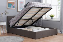 Birlea Berlin Grey Fabric Ottoman Storage Bed - 3ft, 4ft, 4ft6 & 5ft
