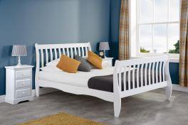 Birlea Belford White Solid Pine Wooden Slatted Bed - 3ft, 4ft & 4ft6