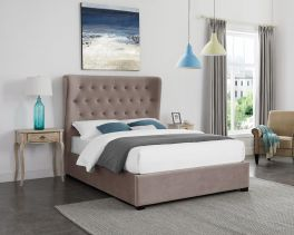 LPD Belgravia Cappuccino Fabric Lift Up Storage Ottoman Bed - 4ft6 Double, 5ft Kingsize or 6ft Super King