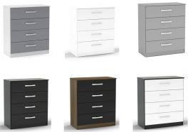Birlea Lynx High Gloss 4 Drawer Chest - Choice of Colours