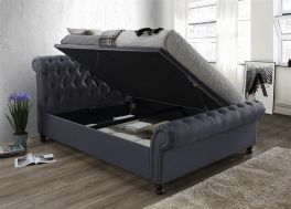 Birlea Castello Fabric Charcoal Side Lift Up Ottoman Storage Bed - 4ft6, 5ft & 6ft