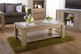 Canyon Dark Oak Coffee Table - Unique 3D Oak Design