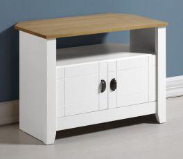 Seconique Ludlow White & Oak Lacquer 2 Door Tv Unit