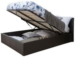 Caspian Ottoman Storage Bed - End Lift - Black - 3ft, 4ft, 4ft6 & 5ft