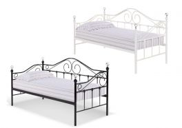 Florence Black or White Metal Day Bed