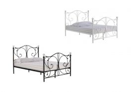 Florence Metal Bed  3ft Single, 4ft6 Double, 5ft Kingsize - Black or White