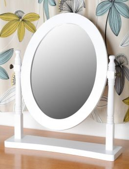 Seconique Contessa Dressing Table Mirror - White