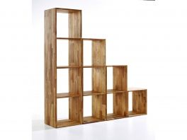 Maximo Wall Mountable Storage Cubes in Various Sizes - Solid Oak