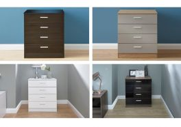 Melbourne High Gloss 4 Drawer Chest - 5 Available Colours