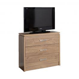 Carlos Oak Chest of 3 Drawers Bedroom Storage Furniture