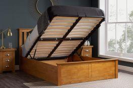 Birlea Phoenix Wooden Ottoman Storage Bed - Oak - 4ft Small Double, 4ft6 Double & 5ft Kingsize