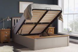 Birlea Phoenix Wooden Ottoman Storage Bed - Pearl Grey - 4ft Small Double, 4ft6 Double & 5ft Kingsize