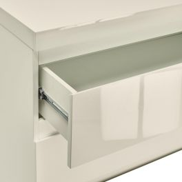 LPD High Gloss 2 Drawer Bedside in Cream