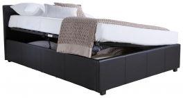 Caspian Ottoman Storage Bed - Side Lift - Black - 3ft, 4ft, 4ft6 & 5ft