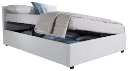 Caspian Ottoman Storage Bed - Side Lift - White - 3ft, 4ft, 4ft6 & 5ft