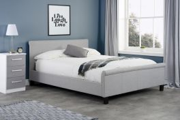 Birlea Stratus Grey Fabric Scroll Bed - 4ft, 4ft6 & 5ft