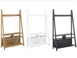 Tiva Ladder Shelving TV Unit - Black, Oak or White