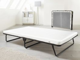 JAY-BE Value Compact Folding Metal Guest Bed & Mattress 2ft3 Single & 4ft Double