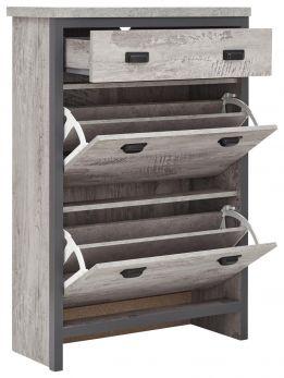 Boston Grey Urban Design Furniture - Hallway Shoe Storage Cabinet